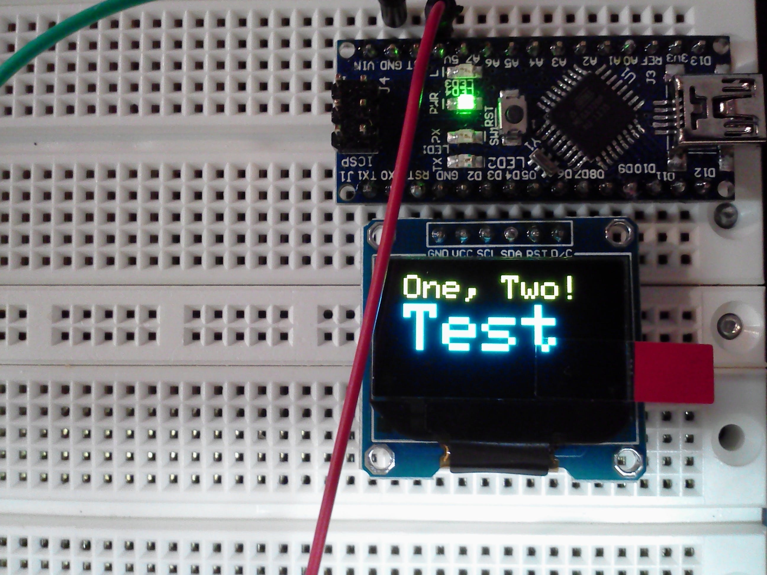 And also on the Arduino 8-bit Nano (unmodified Libs.)