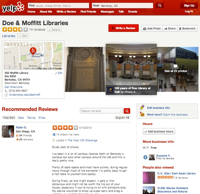 Yelp Information & Reviews