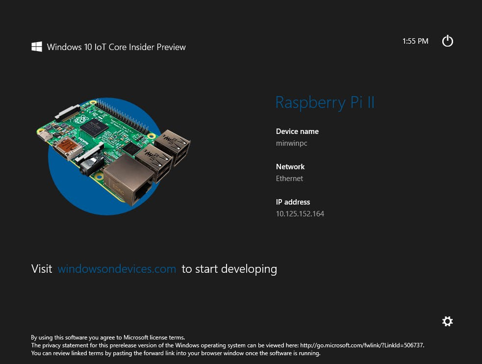 You can find the same information on the Windows IoT Core Watcher utility.You can find the same information on the Windows IoT Core Watcher utility.