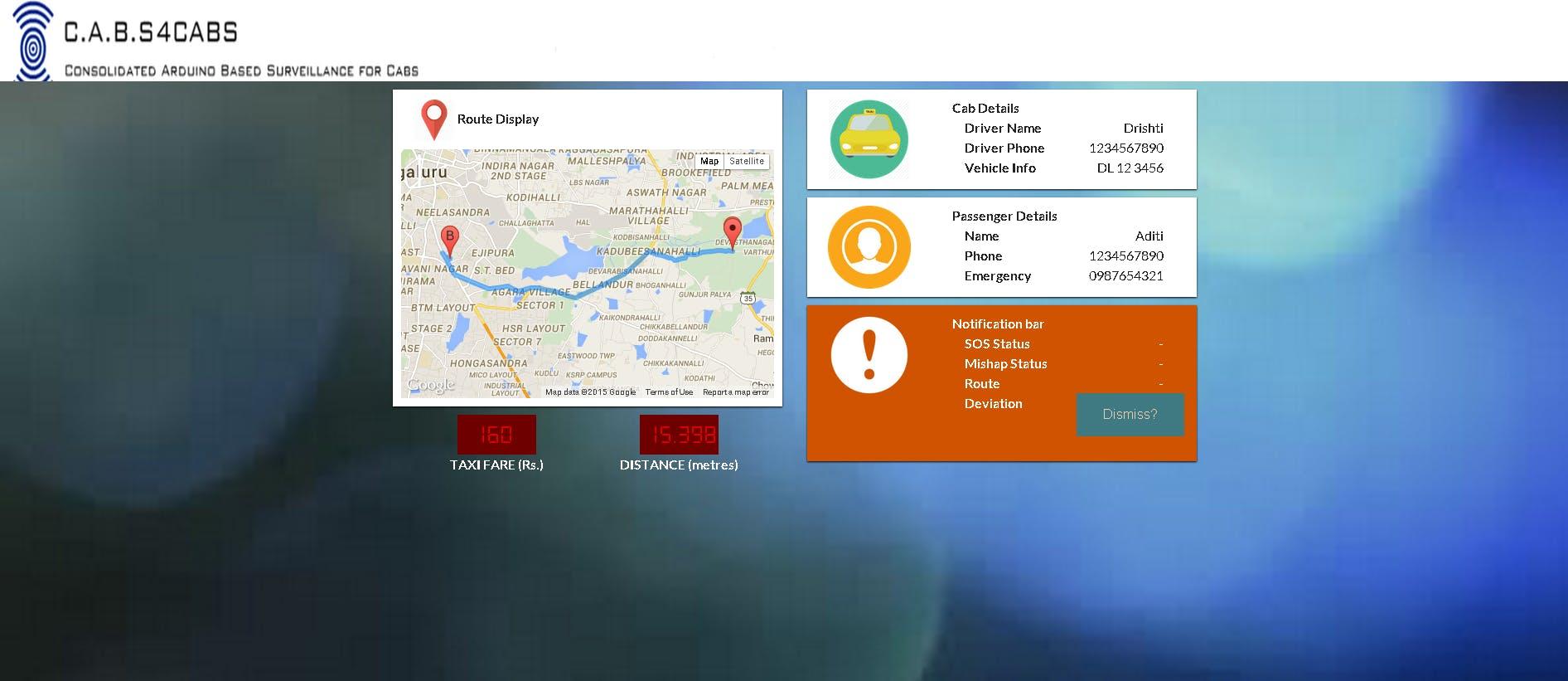 In-Cab Screen UI