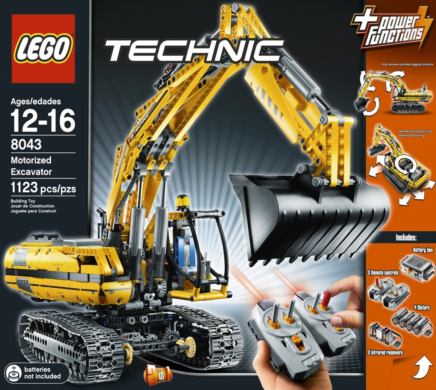 Lego Digger 8043! - With Remote Control!