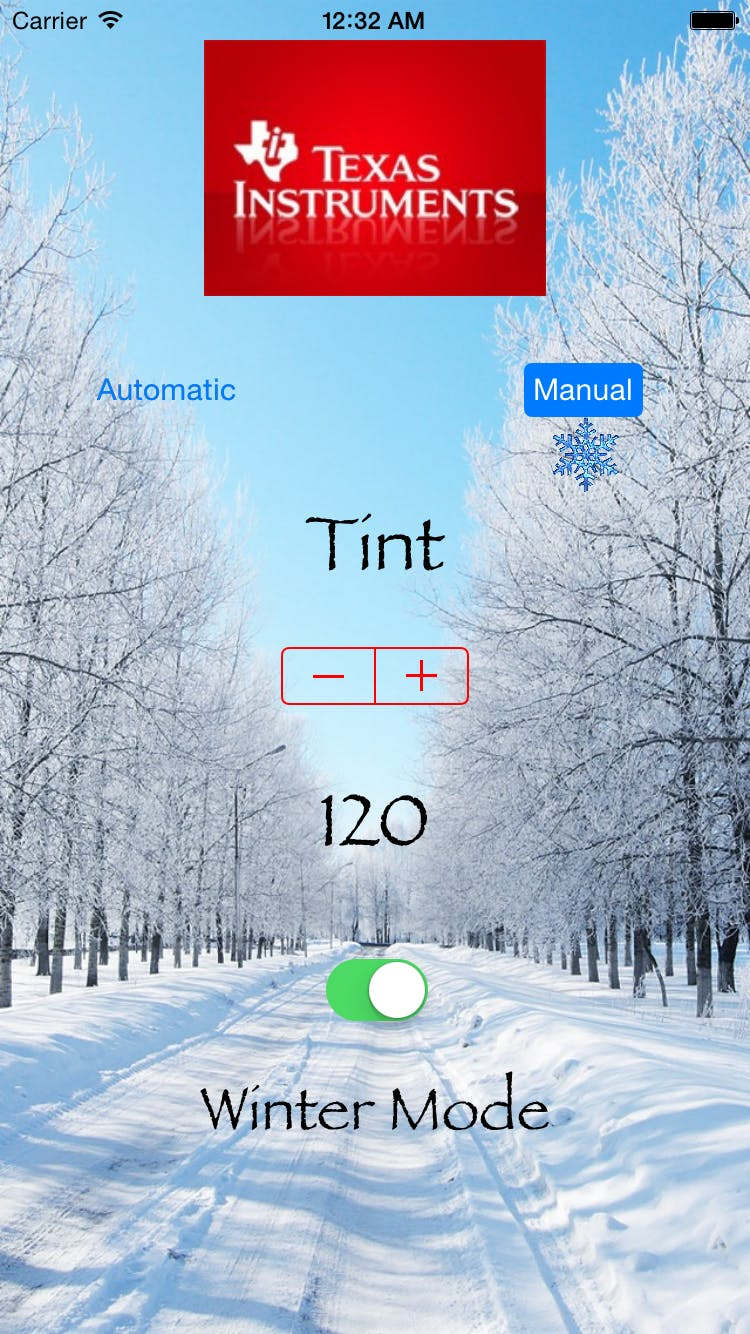 Application in Winter and Manual modes