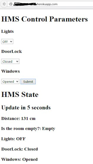 """A Simple Website as the Interface of the """"Home Management System"""""""