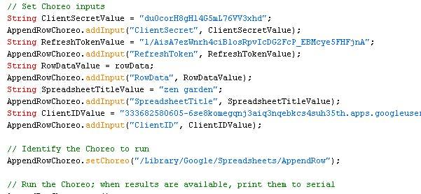 Google Sheet Code