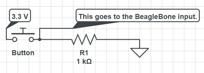 This is the exact schematic for every single button on the breadboard. (Drawing made on circuitlab.com)