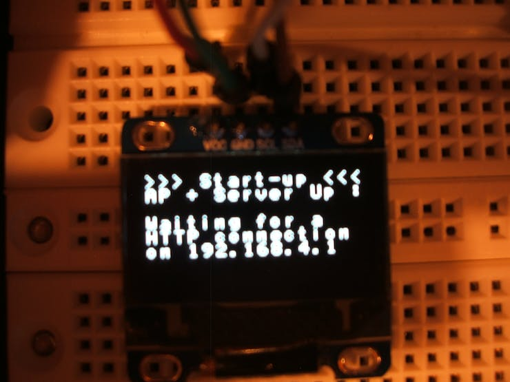 OLED used to monitor ESP8266 messages