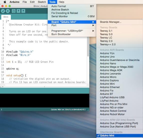 Qduino Mini Quickstart Guide - Hackster io