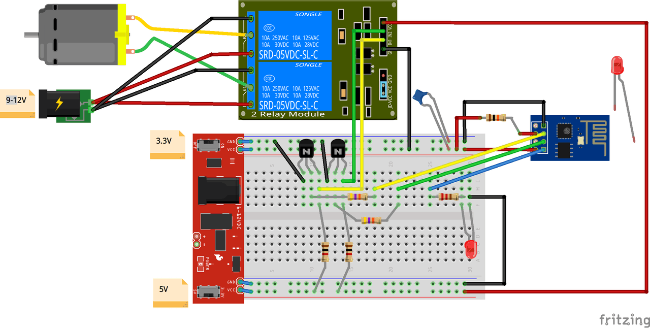 Google Hangouts On Air Light And Lock One Transistor Code By 2n2222