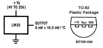 LM35 Pinout and Output Rating
