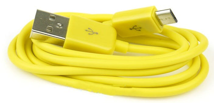 Type-A to micro-B USB cable.
