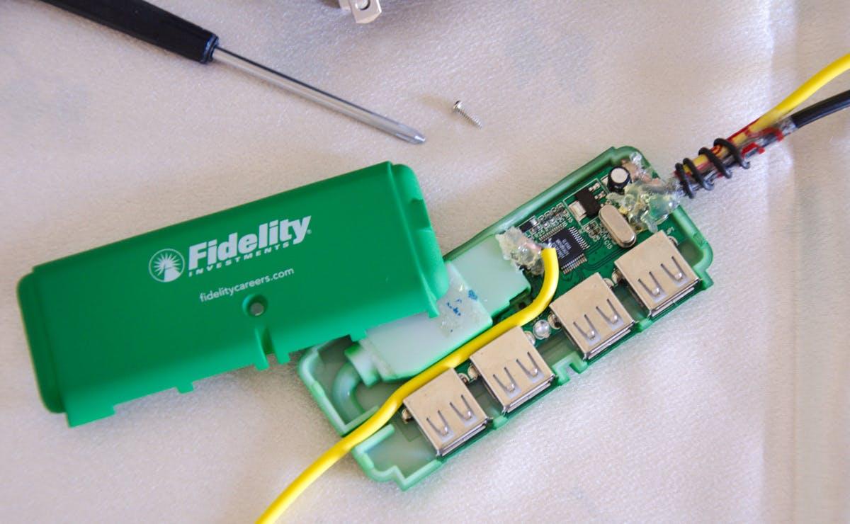 Modifying the Bus Powered USB Hub to a Self Powered USB Hub