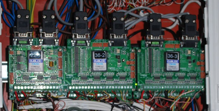 First version of HBus system with PLC boards