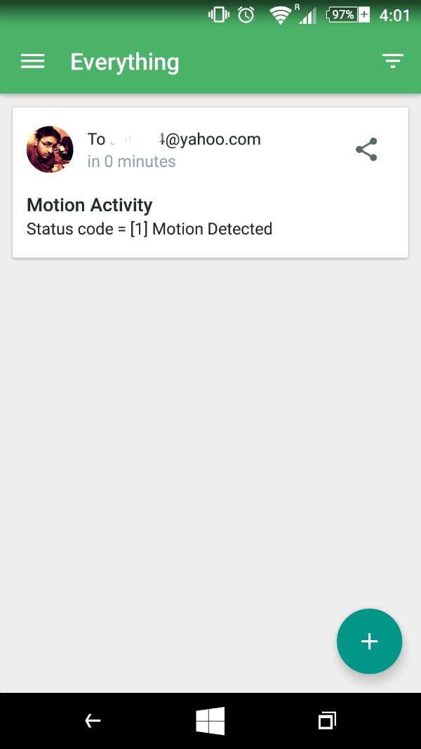 Pushbullet notification