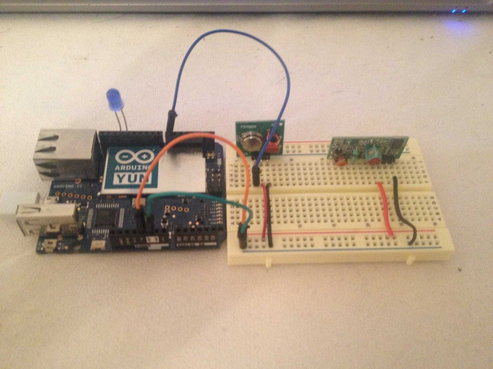 A easy set up of 433 MHz with Arduino Yun
