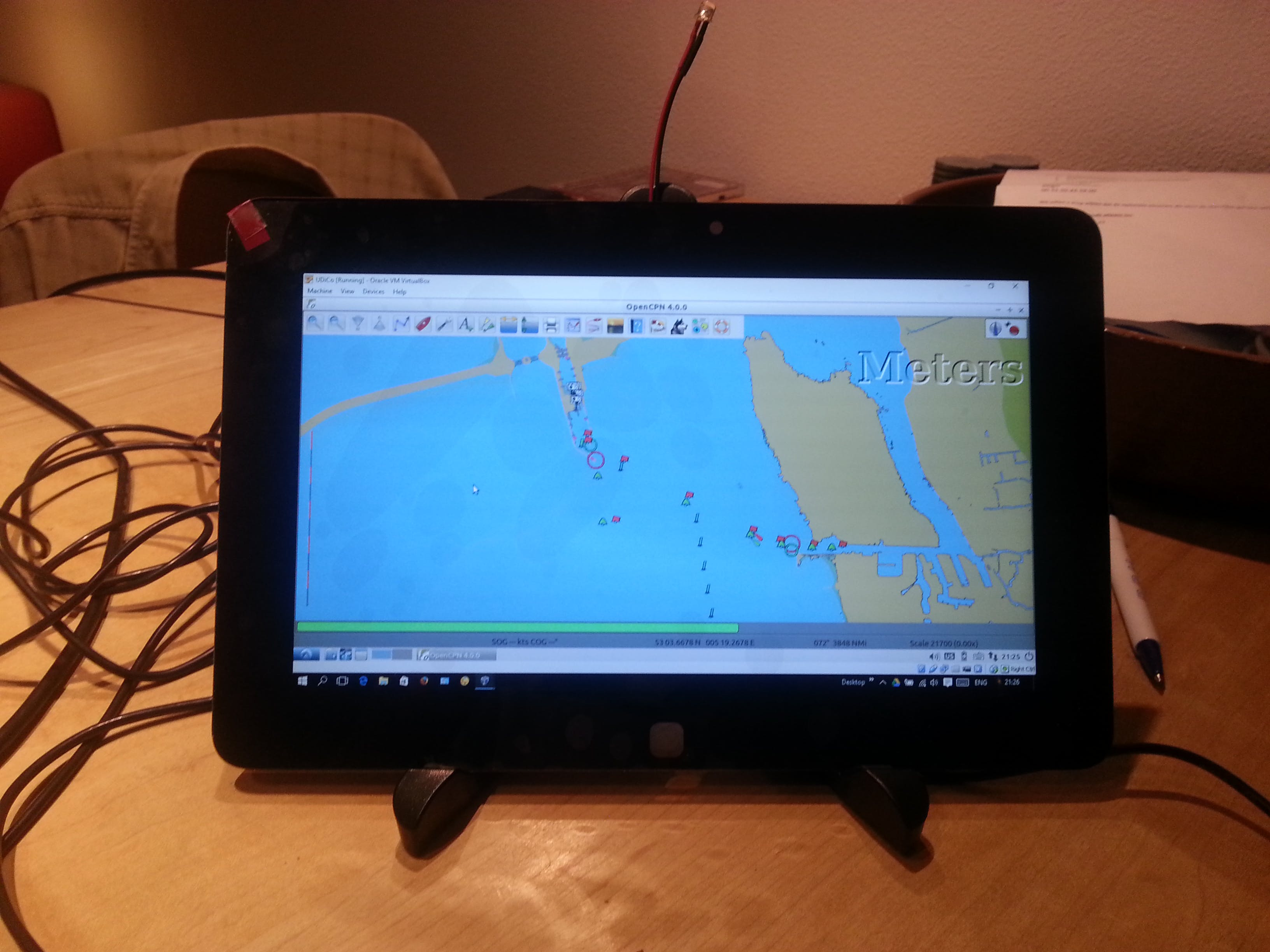 OpenCPN running on 10'(touch) display (and Windows 10)