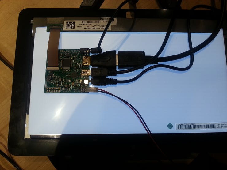 very compact HDMI / LVDS display controller with audio engine from supplier Chalk Elec