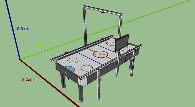 Air hockey robot hackster note that the beam lengths here worked well for our specific air hockey table if youre building this yourself these lengths will need to be adjusted for greentooth Images