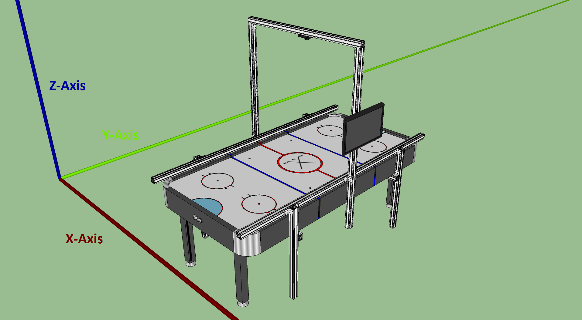 Note That The Beam Lengths Here Worked Well For Our Specific Air Hockey  Table. If Youu0027re Building This Yourself, These Lengths Will Need To Be  Adjusted For ...