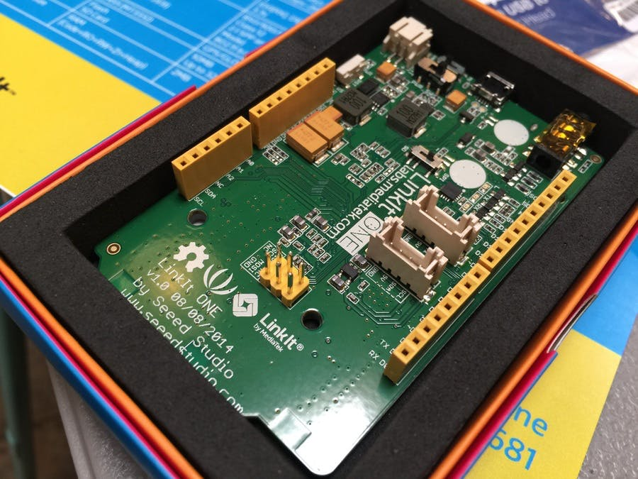 The LinkIt ONE is so shiny.