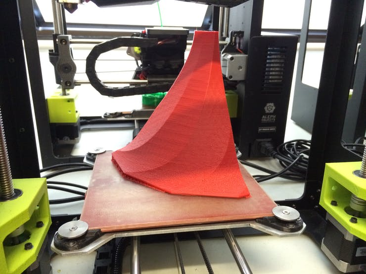 Red HIPS bell 1/4 print