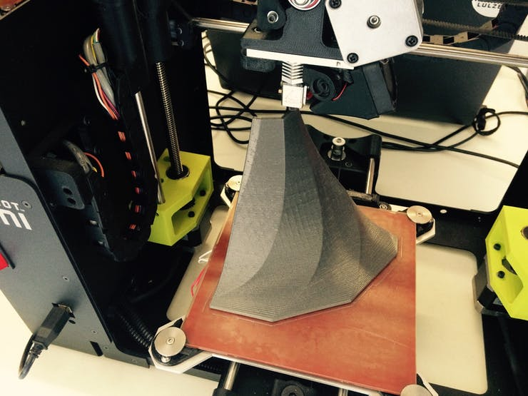 Silver PLA bell 1/4 print