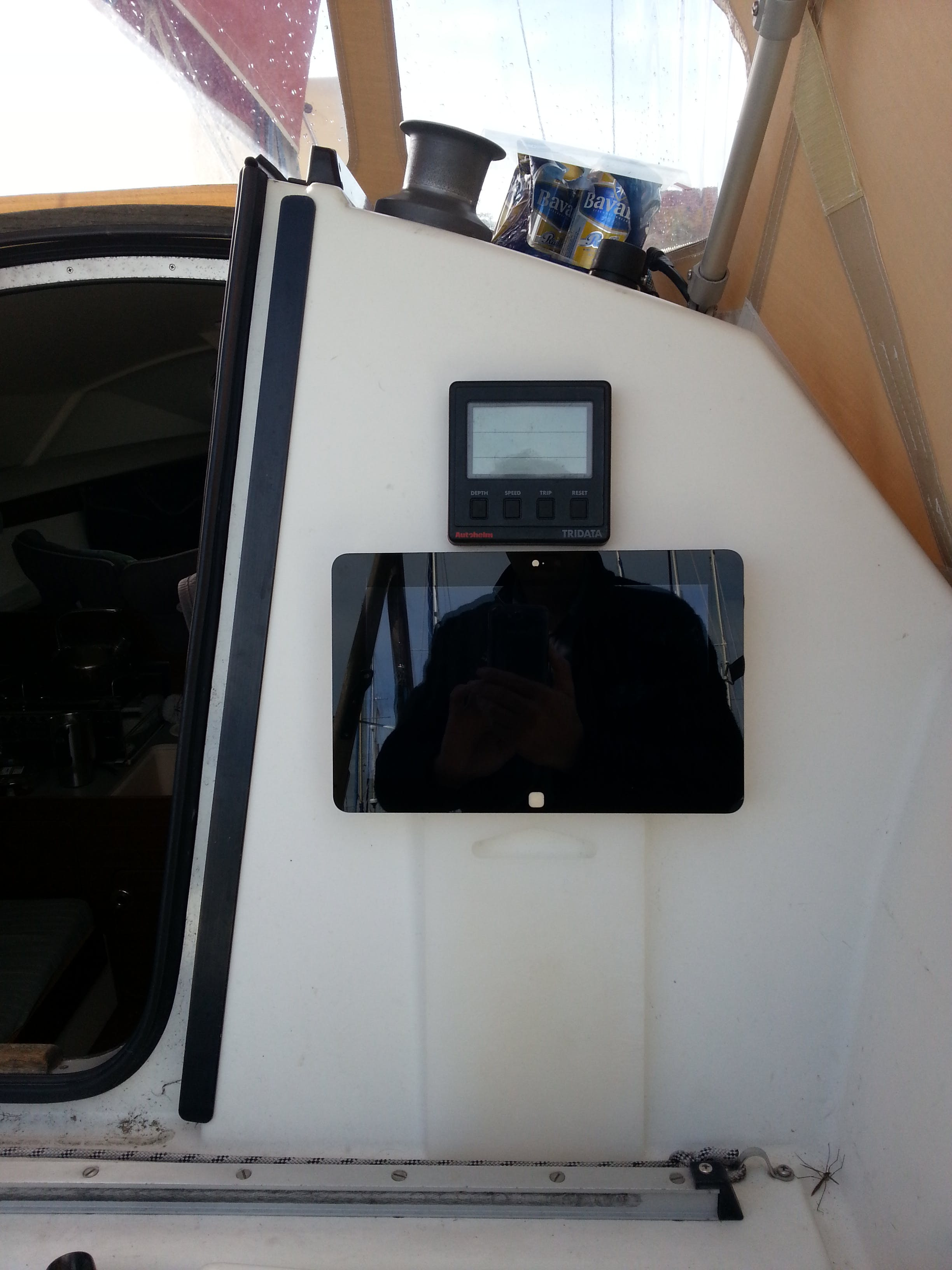 The old Autohelm ST50 Tridata and MIDC on my own boat