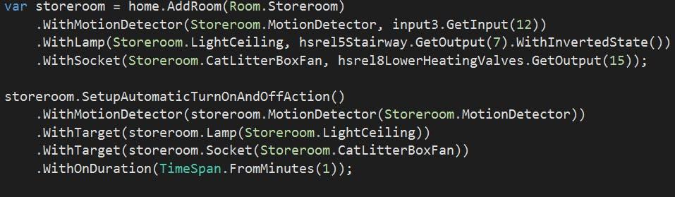 Cat litter box setup in code