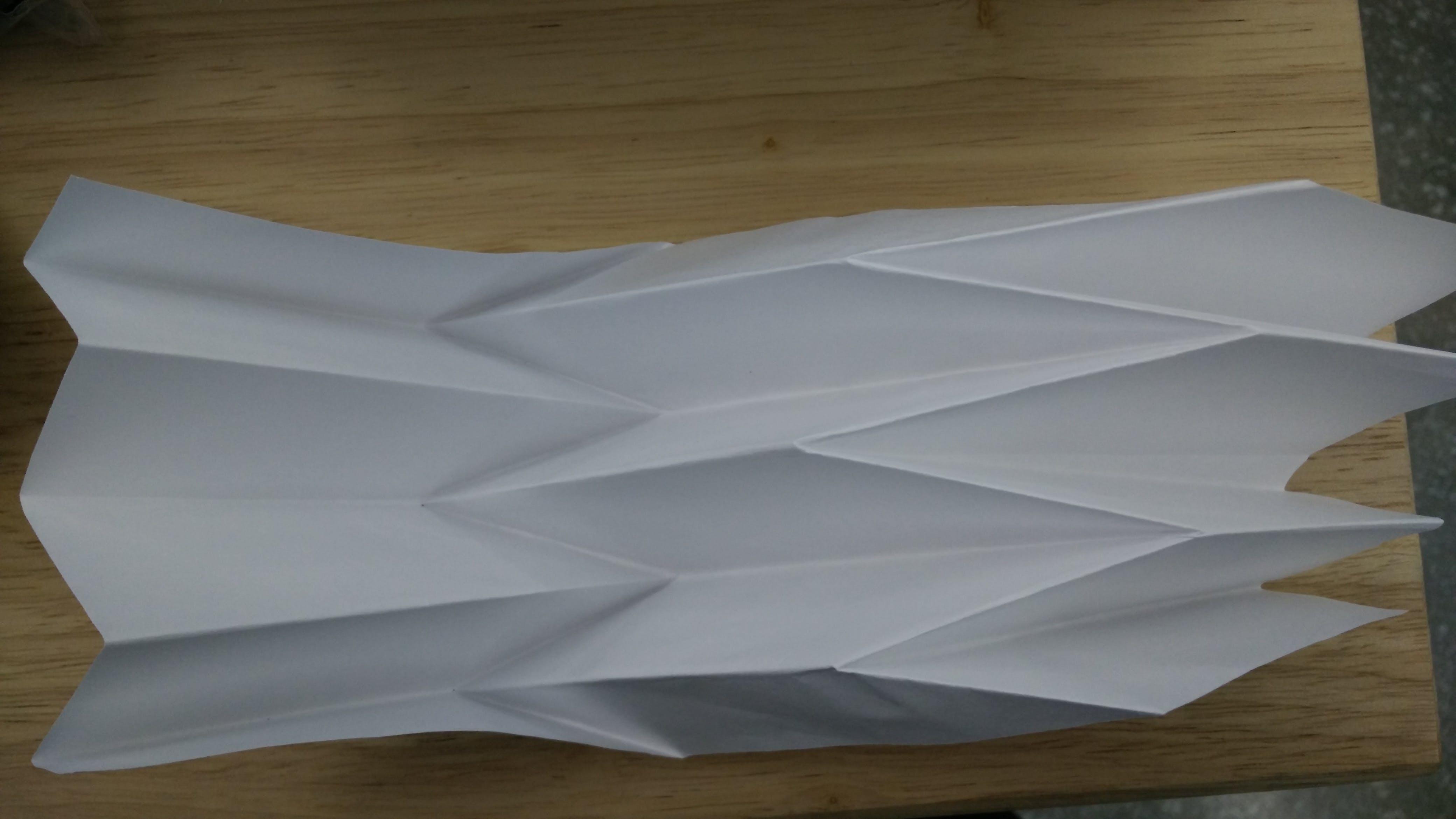 Reverse Folded Paper