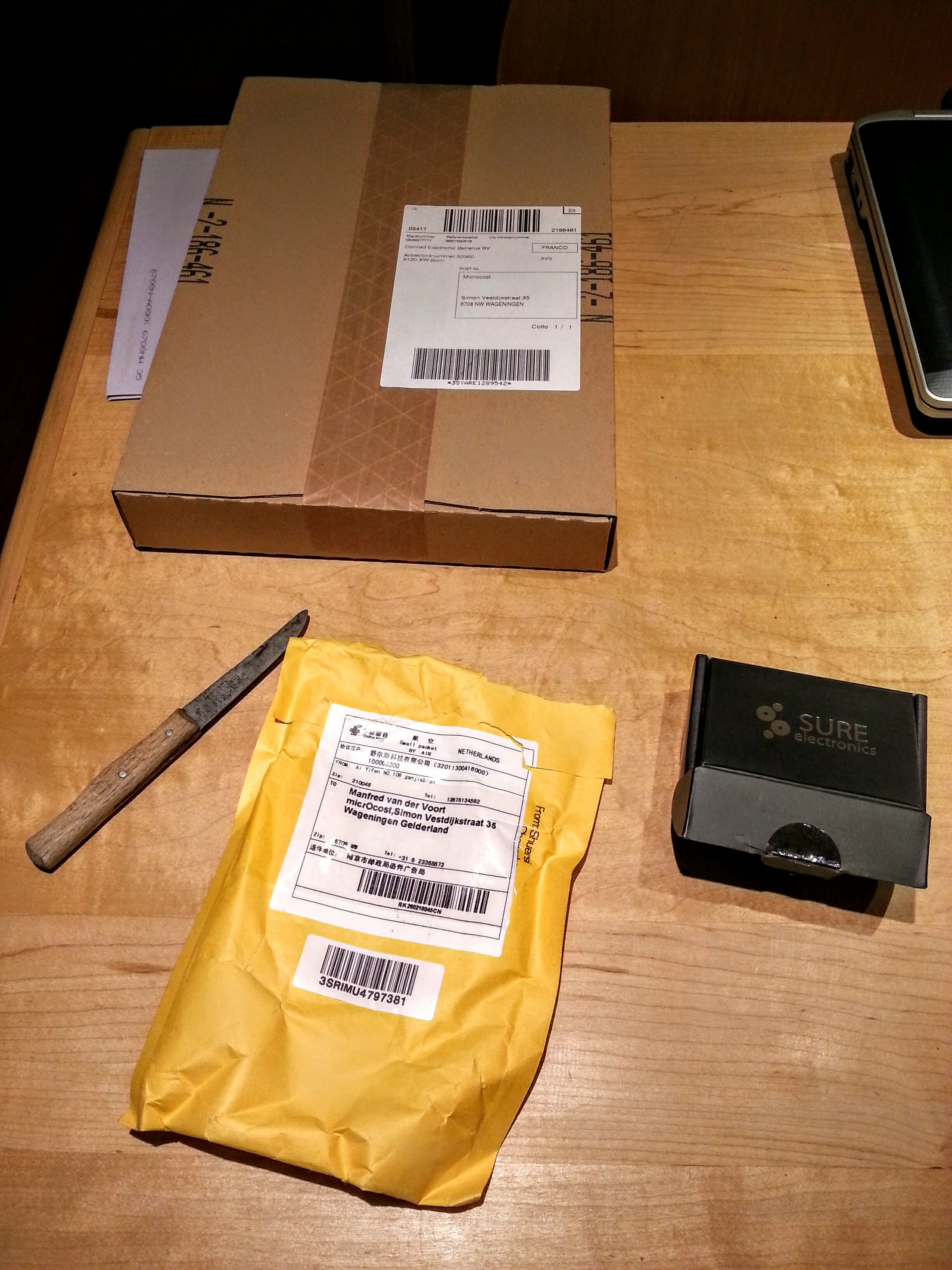 Packages delivered this week.