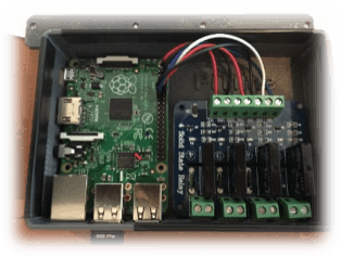 Pool Controller with relays mounted in custom enclosure