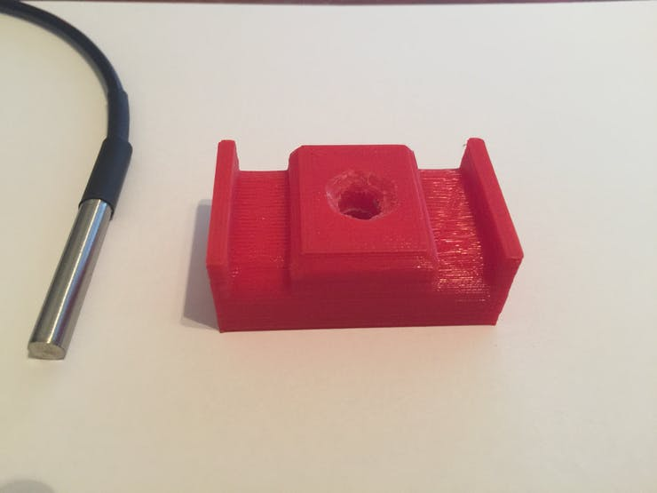 Water Sensor mount with countersunk area for JB Weld