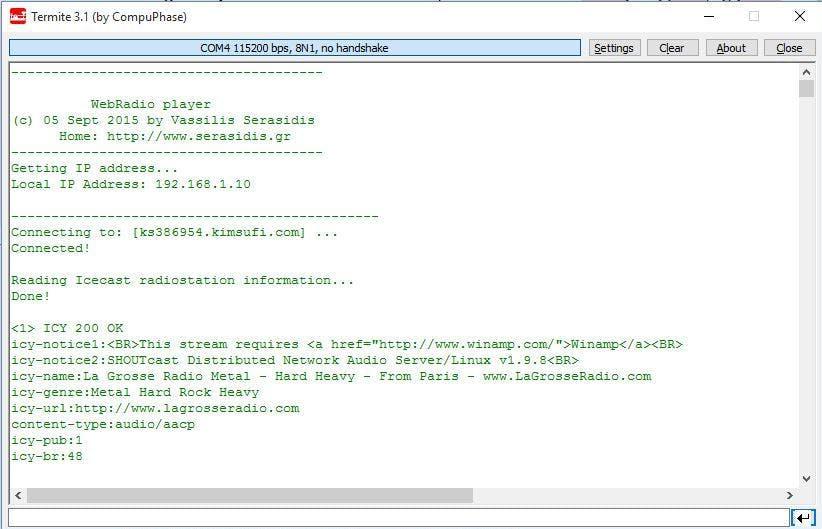 WIZwiki-W7500 WebRadio player (streaming music player) - Hackster io