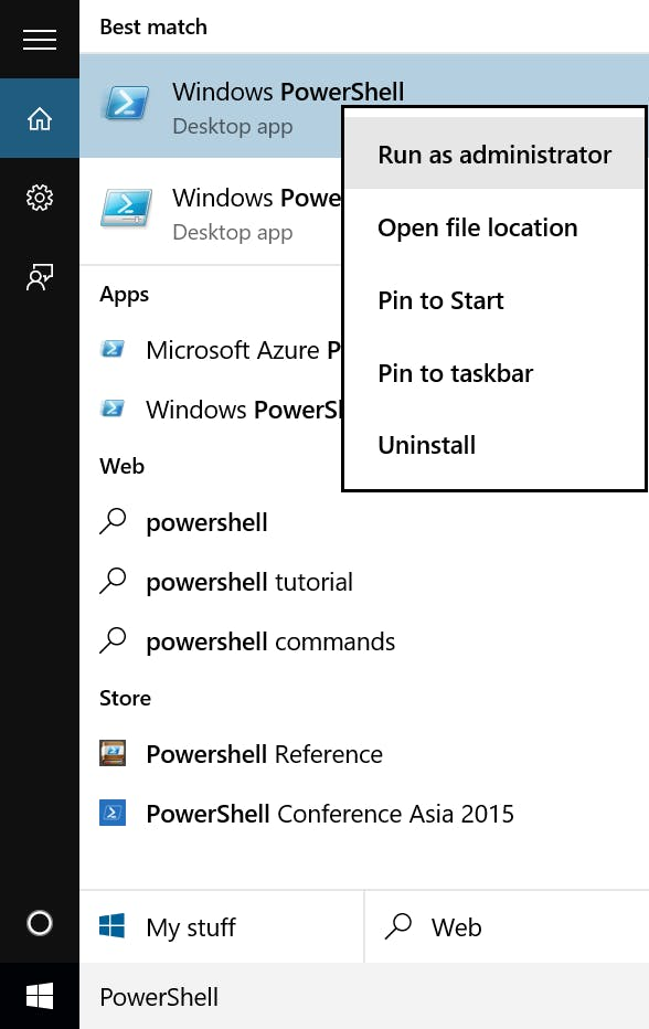 PowerShell as an Administrator