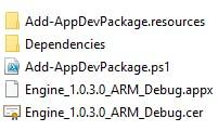 Appx/Cer/Dependencies