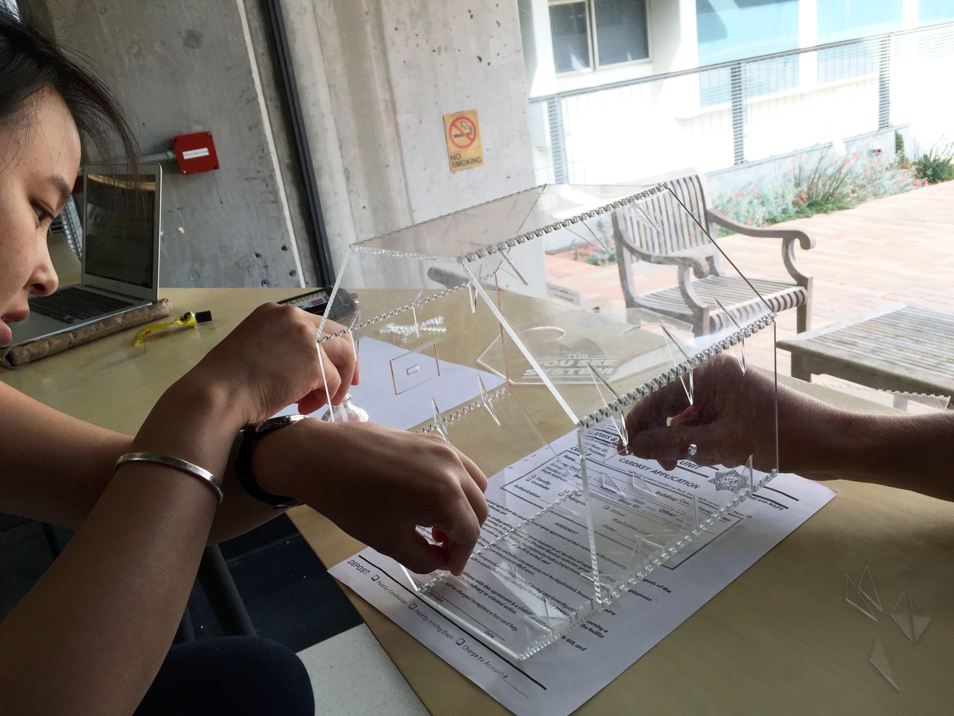Acrylic prototype construction!