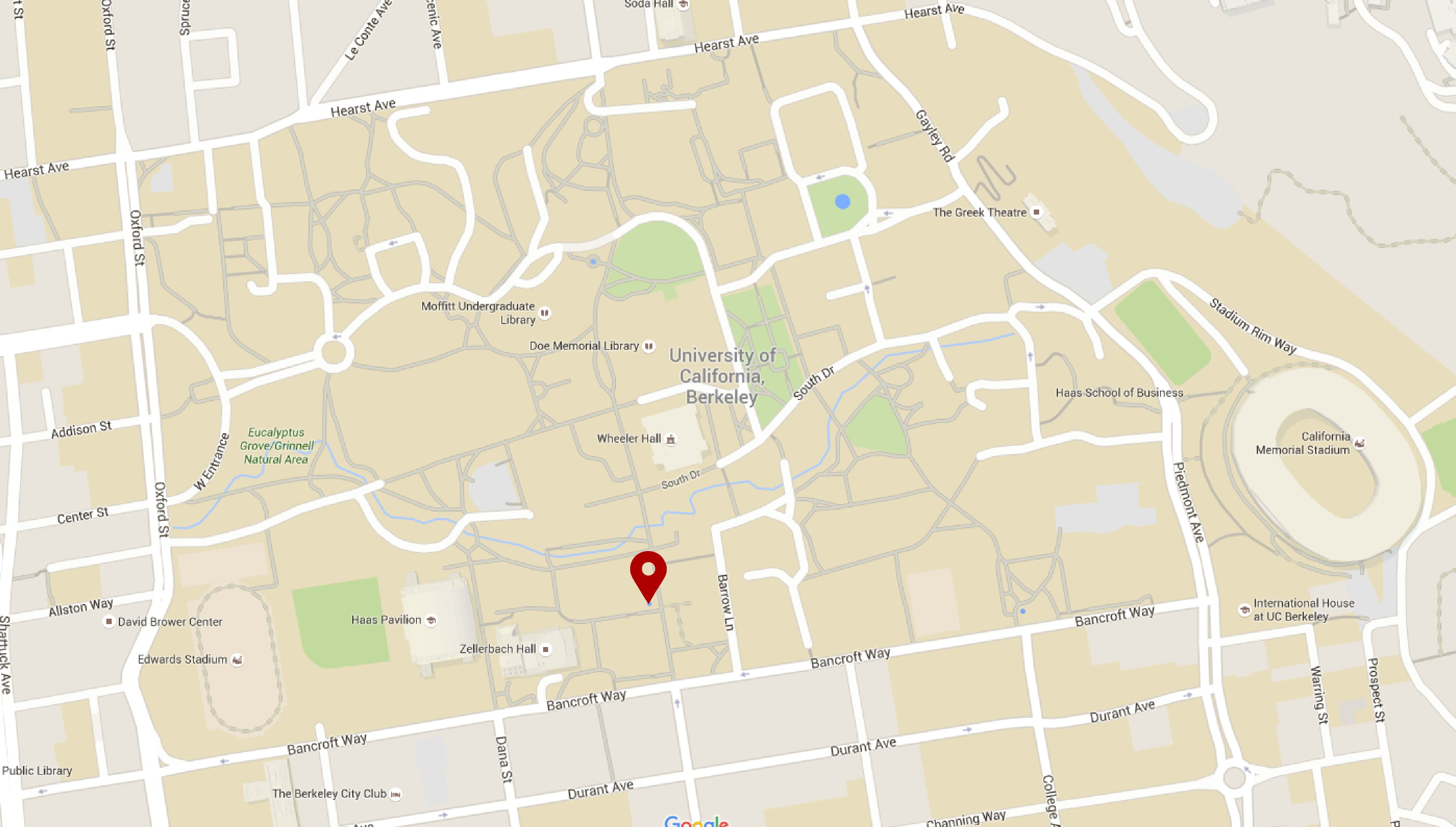 location of Ludwig's Fountain on campus