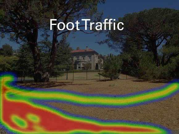 Heat map of foot traffic for 1st observation