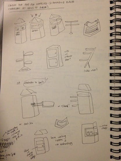 Sketches of our designs and ideas.