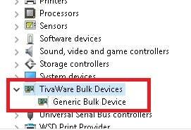TI's generic bulk device USB driver