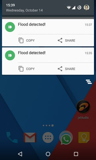 Flood notifications in your phone!