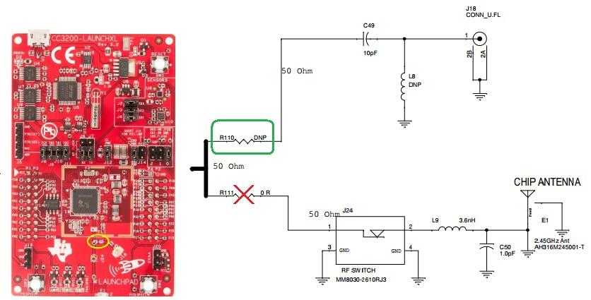 Figure 2. External Wi-Fi antena connection