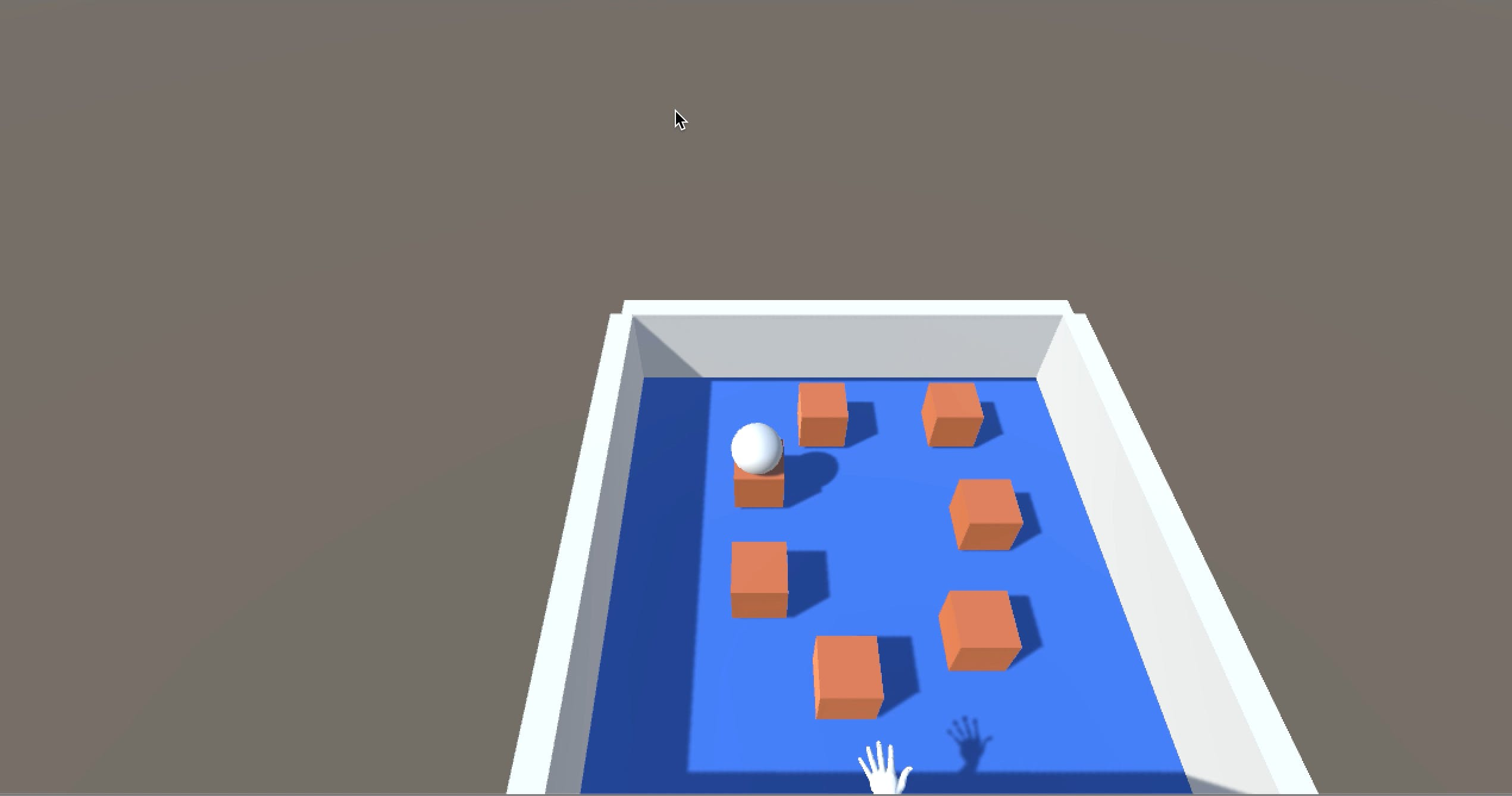 The user can balance the ball on any one of the blocks. [Believe me, this is not easy. :) ]
