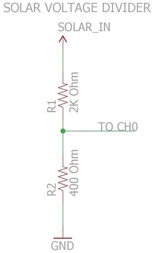 Solar Voltage Divider