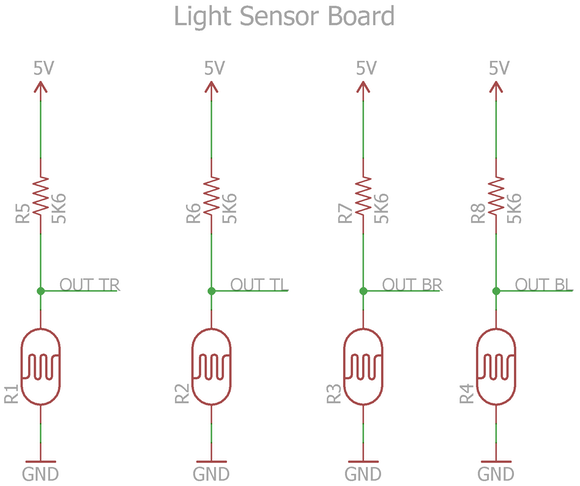 Light Sensor Board Schematic