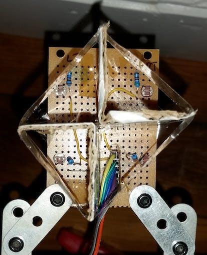 4 Light Dependant Resistors with Divider
