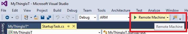 Run debugging mode at remote machine