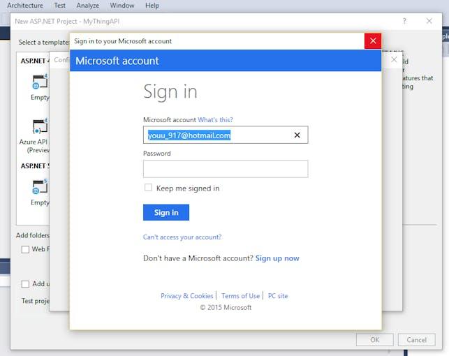 login to Microsoft Azure