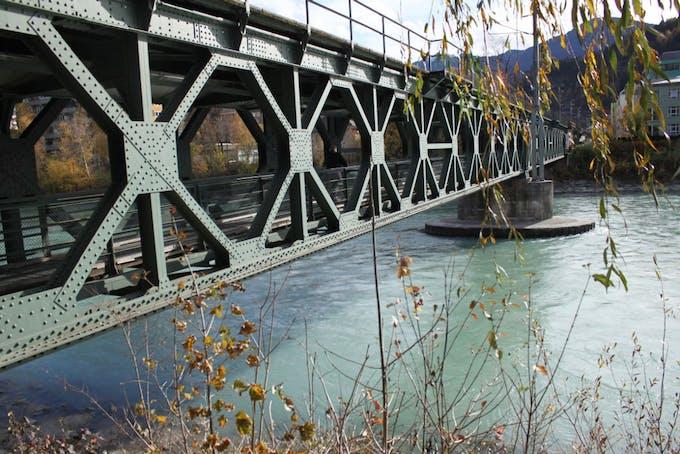 Close up of the bridge