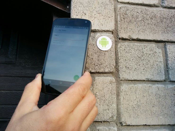 Scan an NFC tag and open your garage