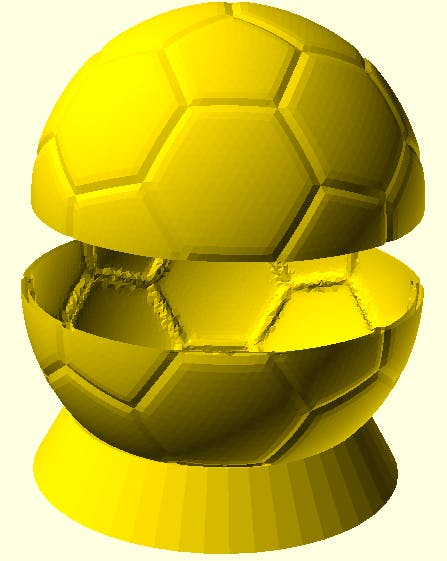 Iteration 2: Actual soccer ball + base